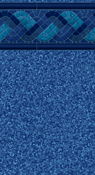 Raleigh Blue Tile 20 Mil or 30/20 Mil Inground Liners