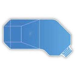 20' x 39' Steel Grecian Lazy-L Inground Swimming Pool Kit