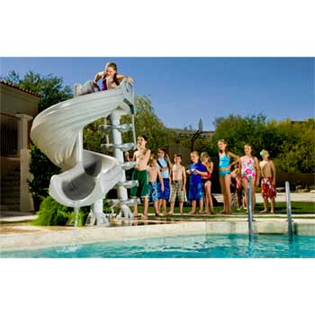 Inter-Fab G-Force 2 Swimming Pool Slide - Summit Gray