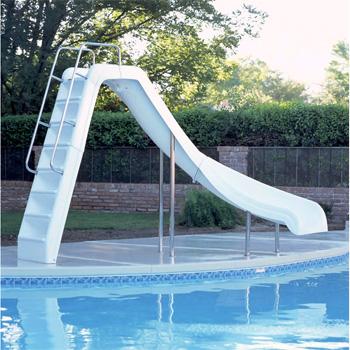 Interfab 6' Wild Ride Swimming Pool Slide - White - Right Turn