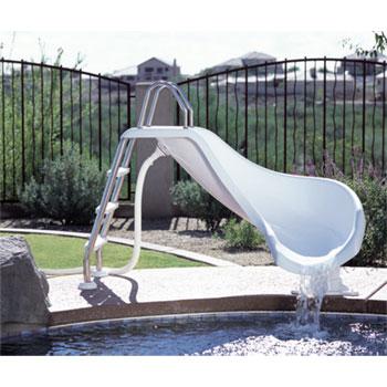 Inter-Fab 3' Zoomerang Pool Slide - White