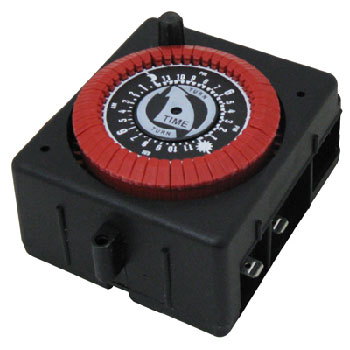 Intermatic 24 Hr. Panel Mount Timer, 120vac, PF & RC Series W/Override