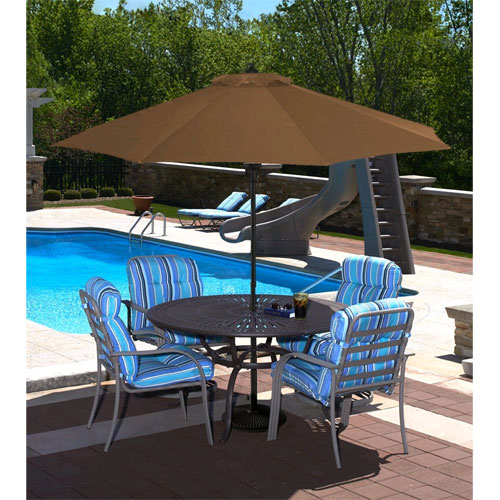 Cabo Auto-Open 9 ft. Market Umbrella in Stone Olefin