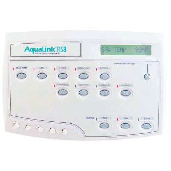 Jandy AquaLink RS All Button Wired PS8 Pool & Spa Combo - White