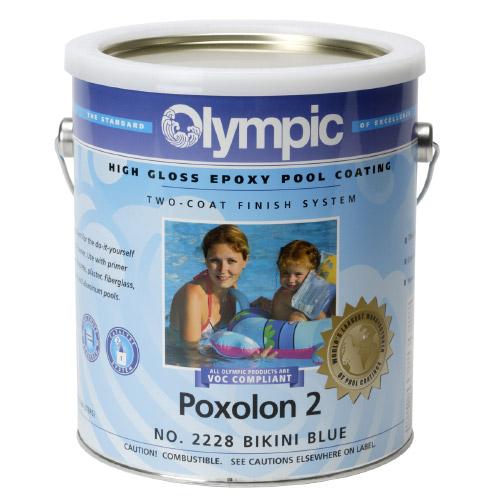 Poxolon 2 Two Coat Epoxy Pool Paint 1 Gallon Blue Ice