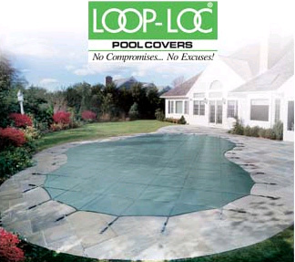 18  x 36  Rectangle Loop-Loc II Super-Dense Mesh Safety Cover - Green (CES)