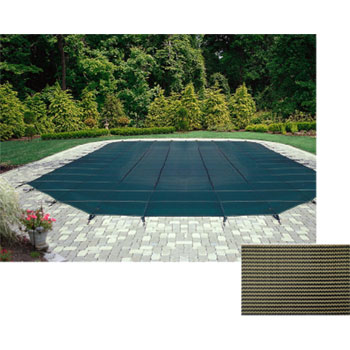 12' x 24' Rectangle 12yr Mesh Safety Pool Cover - Tan