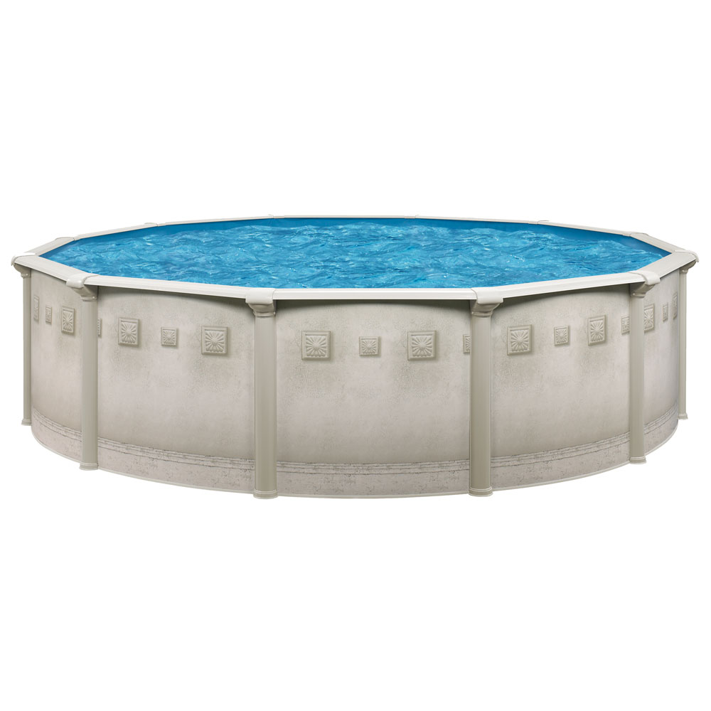 Ocean mist deluxe 24 39 round above ground pool package for Above ground pool equipment