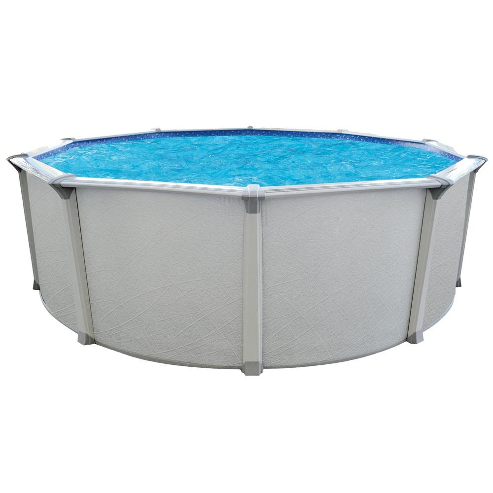 Ocean Mist Premium 18' Round Above Ground Pool Package