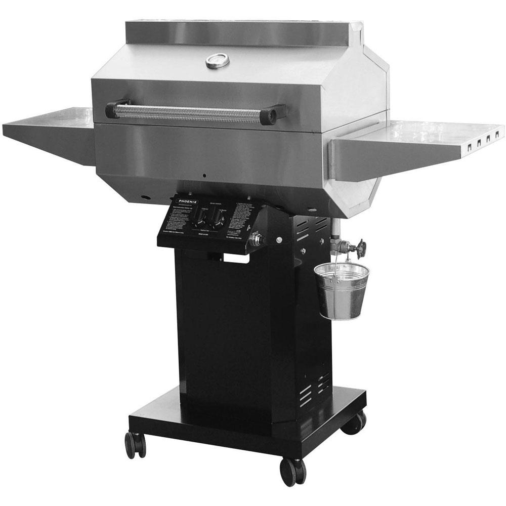 Phoenix Grill 25k BTU Black Stainless Steel w/Black Aluminum Column - NG