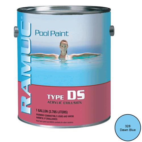 Ramuc Acrylic Damp Set Swimming Pool Paint 1 Gallon Dawn Blue 9101 328