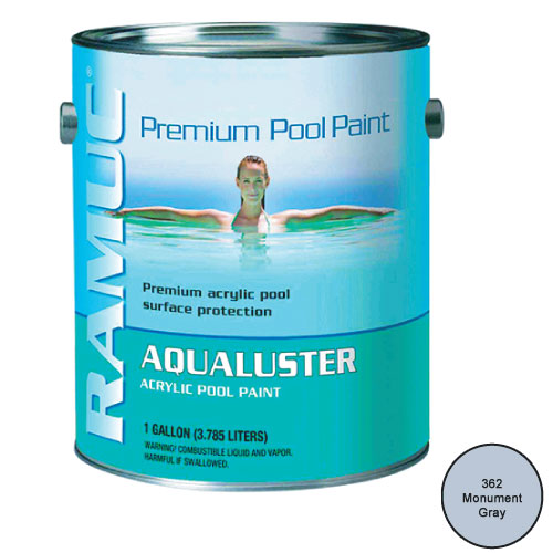 Aqualuster Swimming Pool Paint 1 Gallon Monument Gray