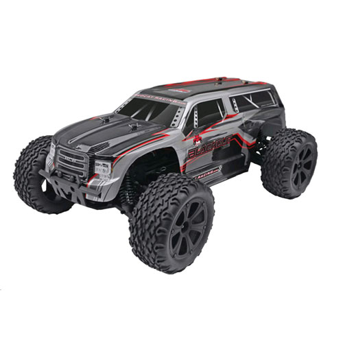 Redcat Blackout XTE 1/10 Scale Electric Monster Truck- Silver/Red SUV