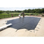 18  x 36  Rectangle 30yr Commercial Mesh Safety Pool Cover - Black (CES)