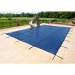 16' x 32' Rectangle Safety Pool Covers w/ Left End Step>
