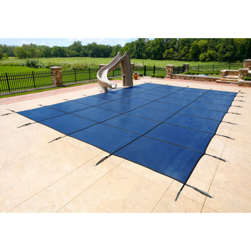 20  x 40  Grecian 20yr Super Mesh Safety Pool Cover  - Blue (CES)