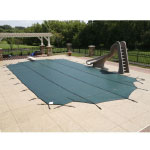 18  x 36  Rectangle 12yr Mesh Safety Pool Cover  - Green (CES)