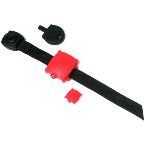 Safety Turtle Wrist Band - Red