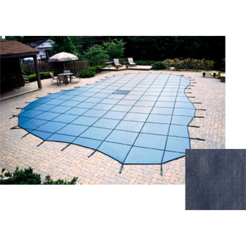 20  x 40  Grecian 20yr Solid Safety Pool Cover w/ Drain - Blue (CES)