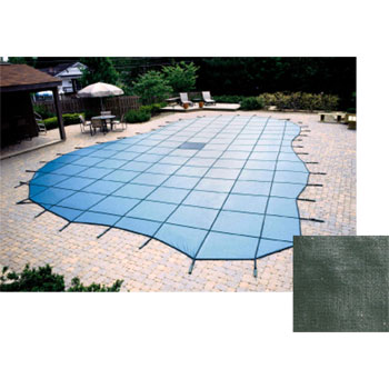 20  x 40  Grecian 20yr Solid Safety Cover w/ Cover Pump - Blue (CES)