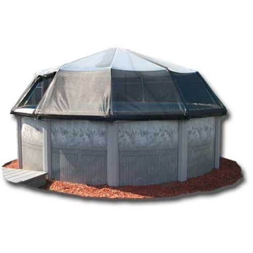 15 Round Above Ground Pool Screen Dome 12 Panels SD1215S
