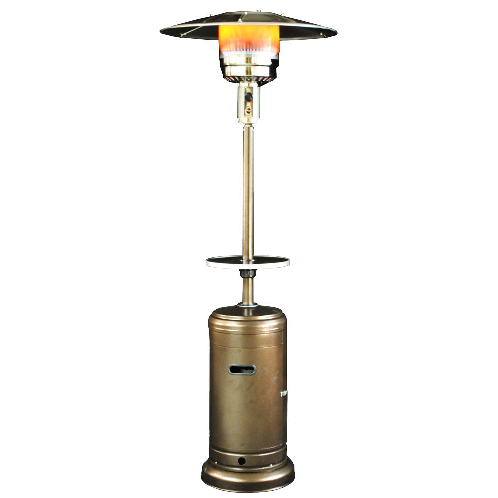 Classic Umbrella Design Portable Propane Patio Heater - Golden Hammered