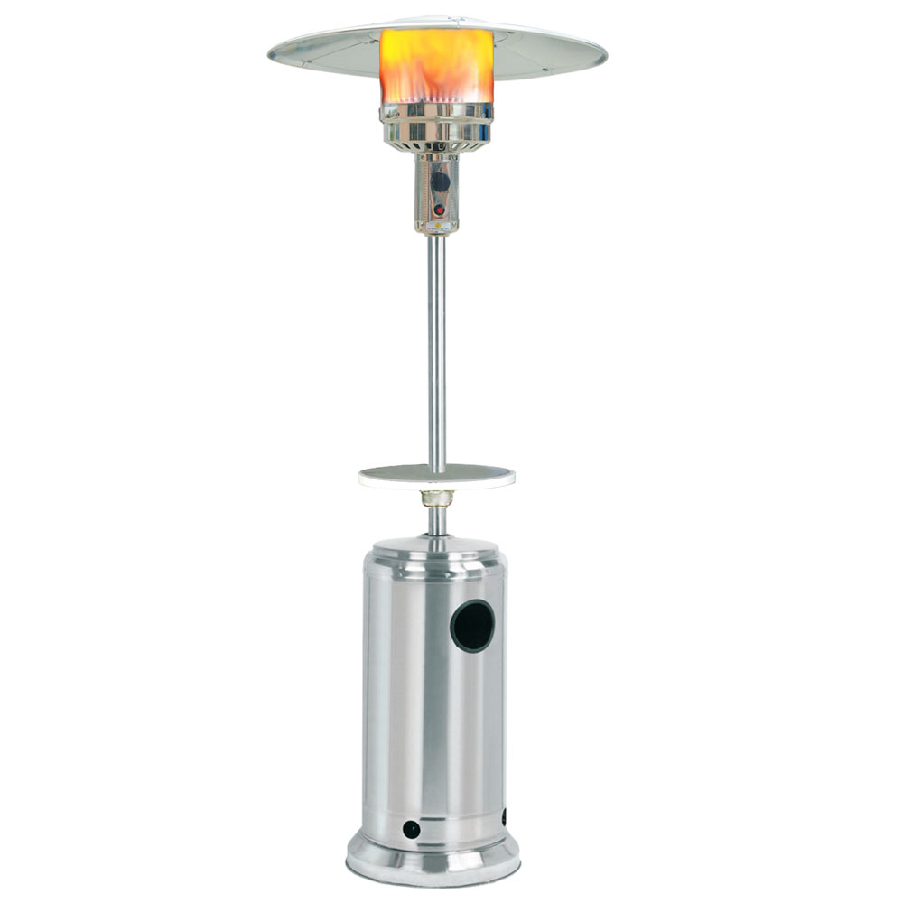 Classic Umbrella Design Portable Propane Patio Heater - Stainless Steel