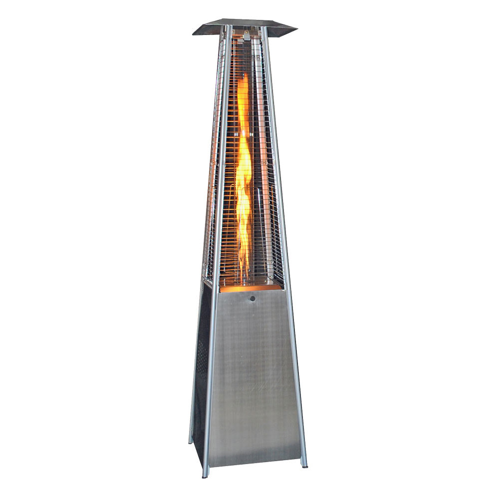 Contemporary Square Design Portable Propane Patio Heater - Stainless Steel