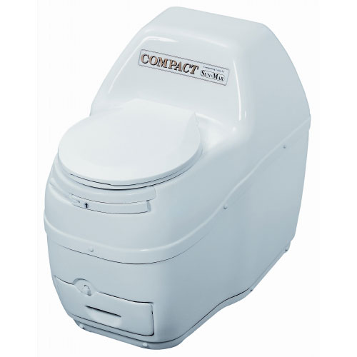 Sun-Mar Compact Self-Contained Composting Toilet - White