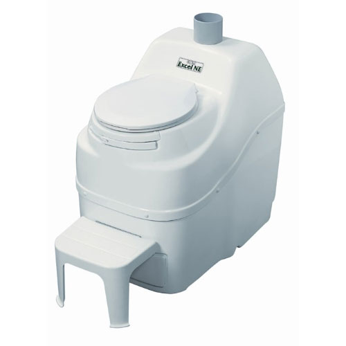 Sun-Mar Excel NE Self-Contained Composting Toilet - White
