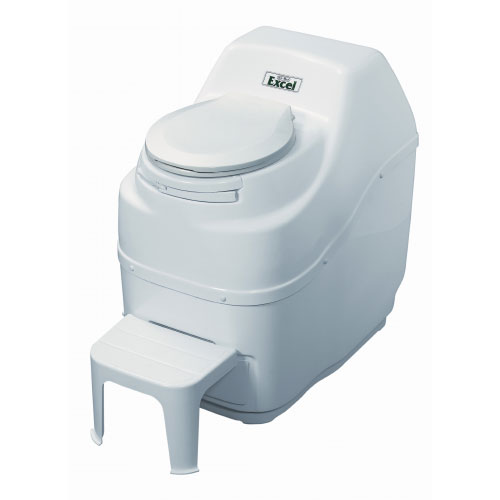 Sun-Mar Excel Self-Contained Composting Toilet - White