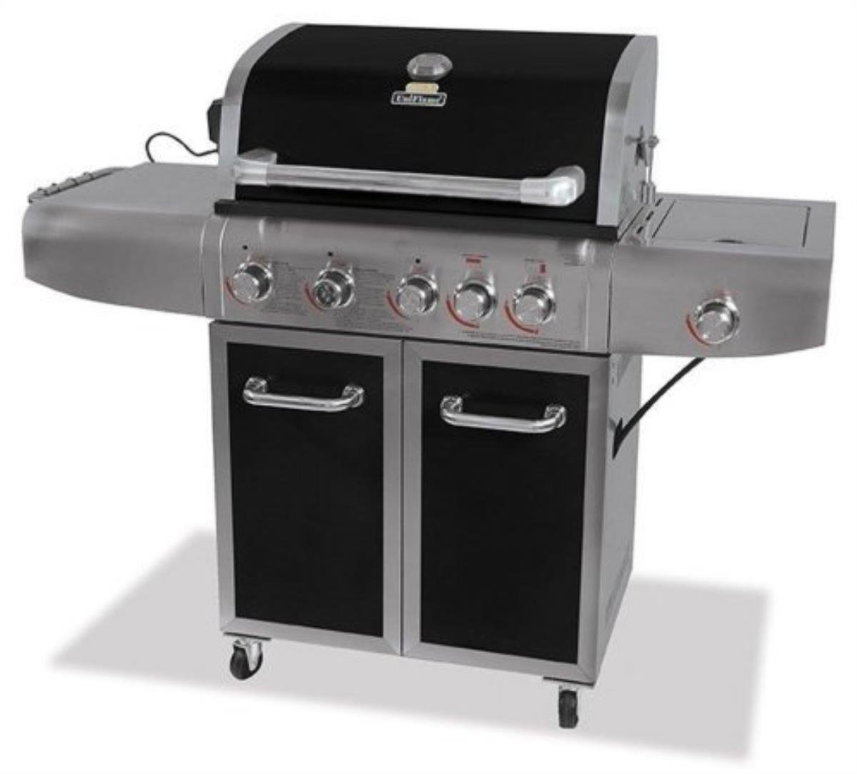 UniFlame Deluxe Outdoor 72k BTU LP Gas Barbecue Grill w/Rotisserie