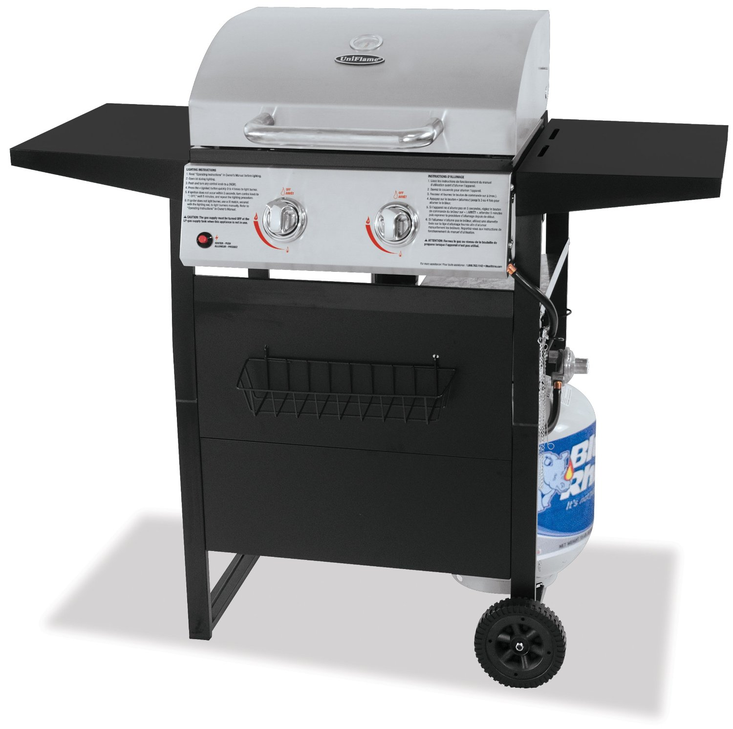 UniFlame Stainless Steel Outdoor LP Gas Barbecue Grill