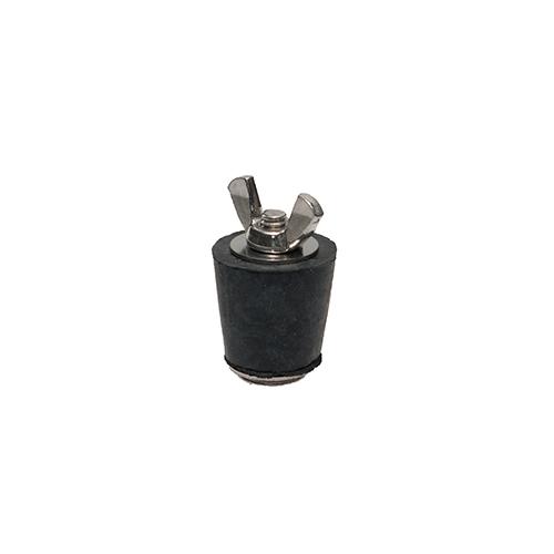 Winter Rubber Plug w/ Stainless Steel Wingnut - #4 3/4 - 1