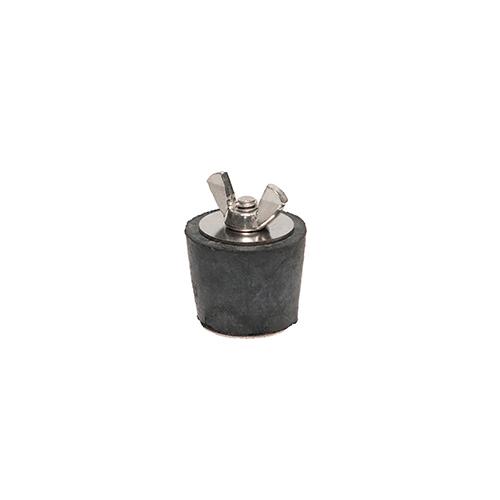 Winter Rubber Plug w/ Stainless Steel Wingnut - #7 1 1/4