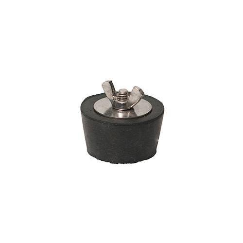 Winter Rubber Plug w/ Stainless Steel Wingnut - #9 1 1/2