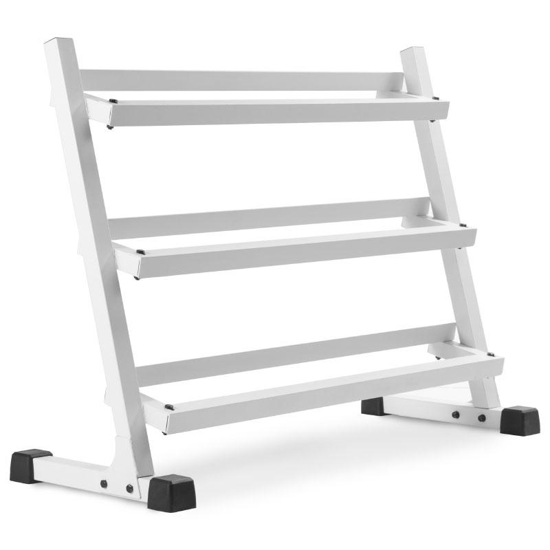 XMark 4 ft. Three Tier Dumbbell Rack - White