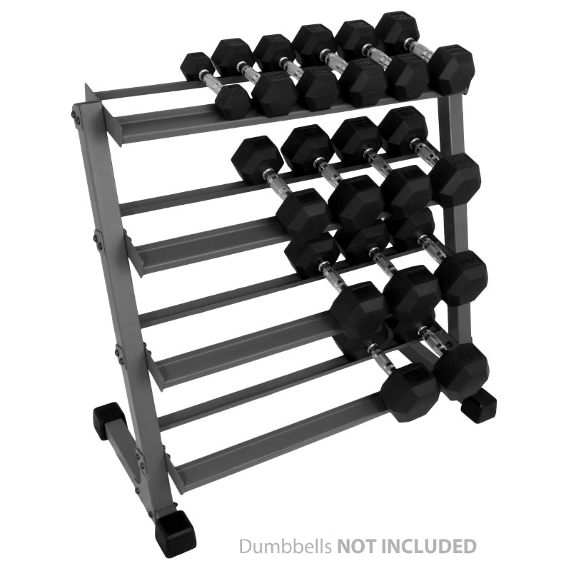 XMark 3 ft. Four Tier Dumbbell Rack